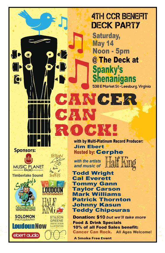Cancer Can Rock Spanky Shenanigans Saturday May 14 Noon till 5PM