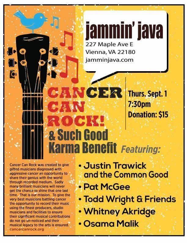 Cancer Can Rock & Such Good Karma - Jammin Java Thursday September 1st, 2016
