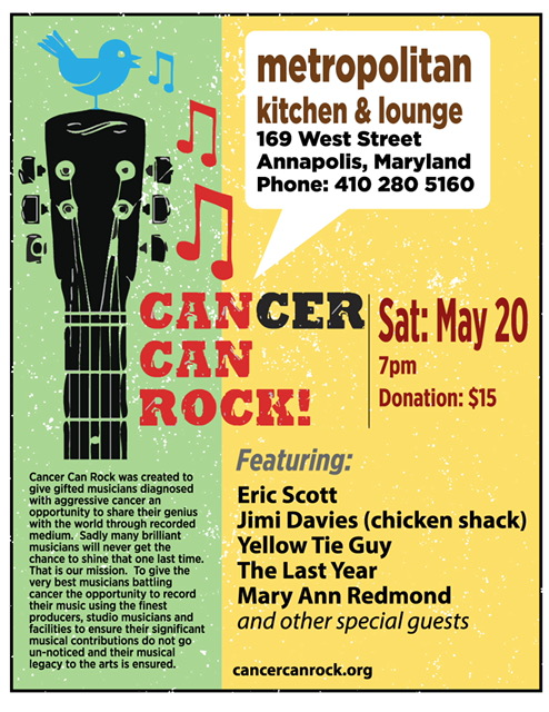 Cancer Can Rock - Metropolitan Kitchen and Lounge May 20th, 2017